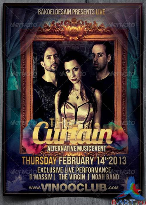 GraphicRiver The Curtain Music Flyer