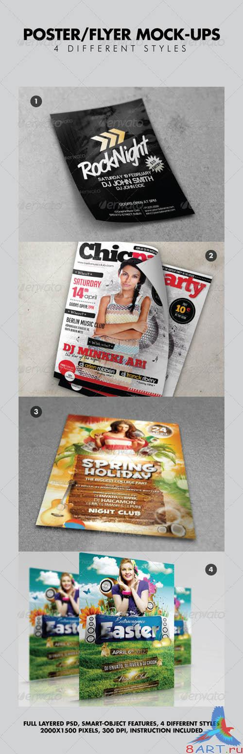 GraphicRiver Various Poster / Flyer Mock-ups V2