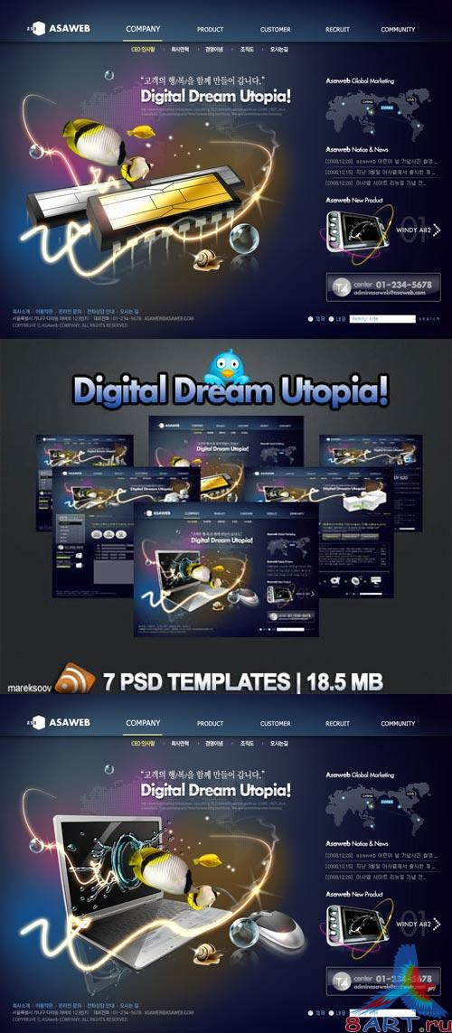 Digital Dream Utopia PSD Templates Nr.53