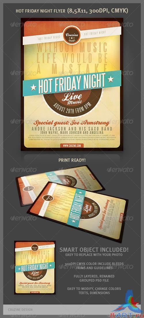 GraphicRiver Hot Friday Night Flyer