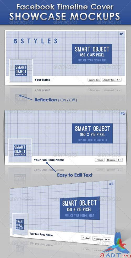 GraphicRiver FB Timeline Cover Showcase Mockups