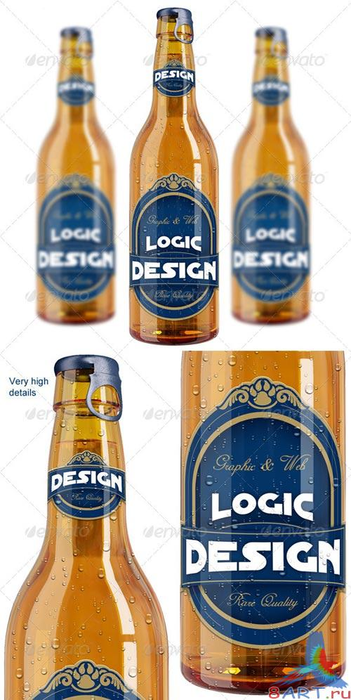 GraphicRiver Bottle Beer Mock Up