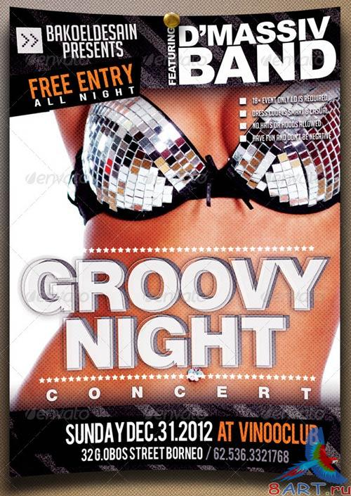 GraphicRiver Groovy Night Music Flyer