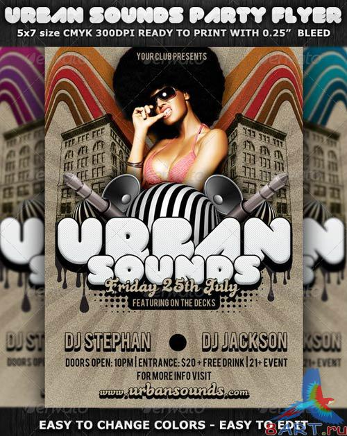 GraphicRiver Urban Sounds Party Flyer Template