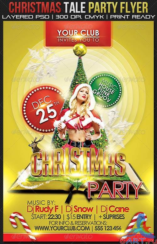 GraphicRiver Christmas Tale Party Flyer
