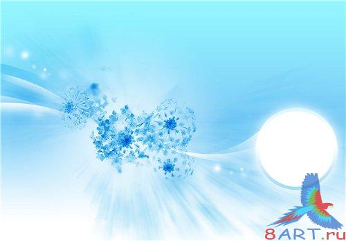 PSD - Light Blue Floral Theme