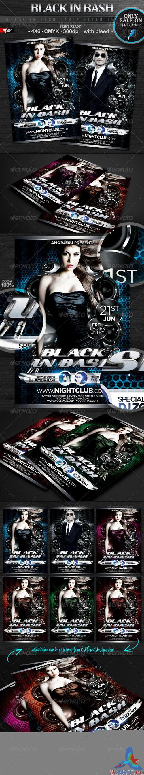 GraphicRiver - Black In Bash Flyer Template 2532393