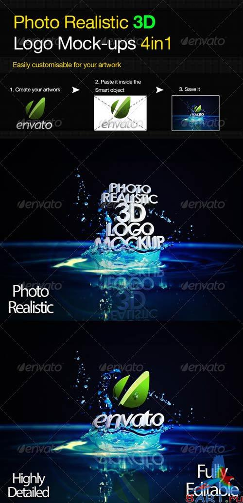 GraphicRiver Photo Realistic 3D Logo Mock-up V.3