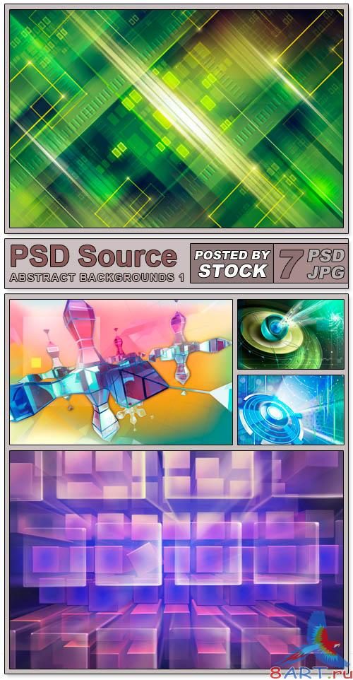 Layered PSD Files - Abstract backgrounds 1