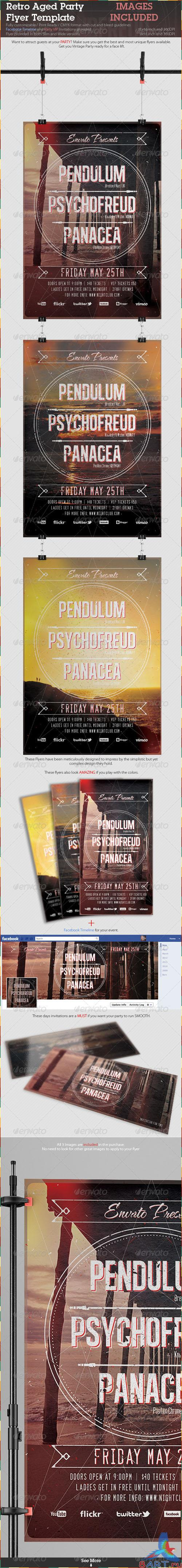 GraphicRiver - Retro Aged Party Flyer Template 2336653