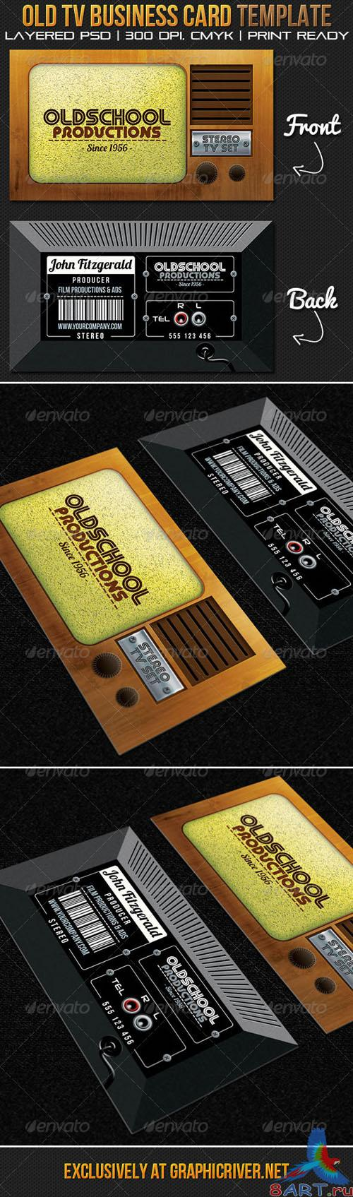 GraphicRiver - Oldschool Productions Business Card Template 2725802