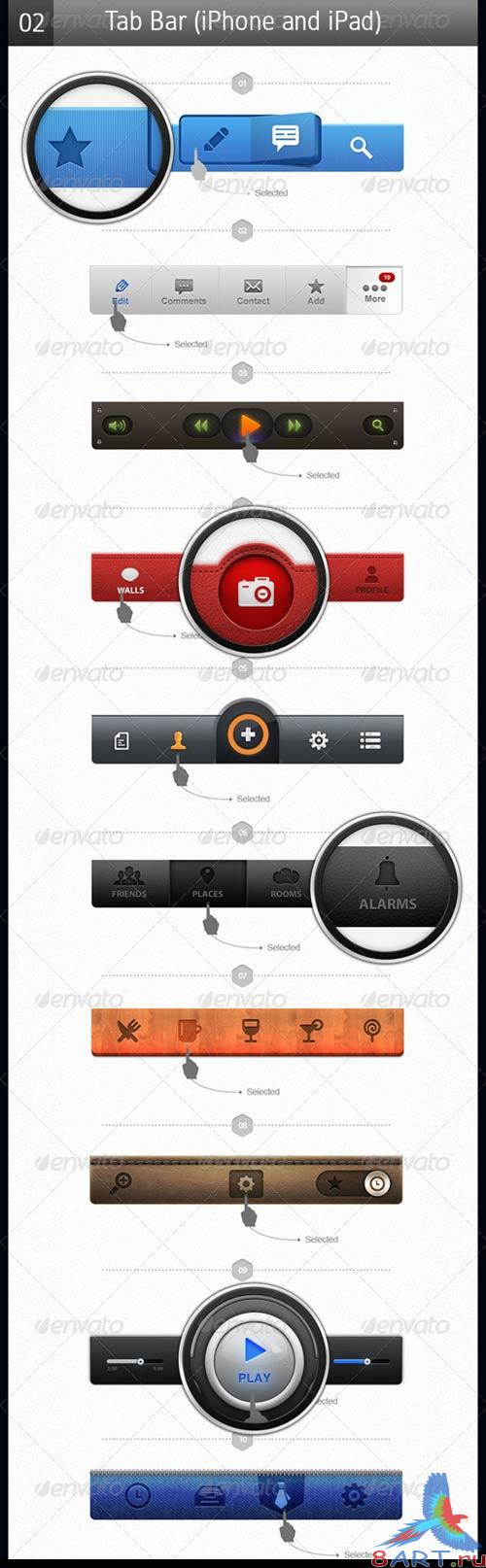GraphicRiver UI Pack for iOS by rebirthPIXEL