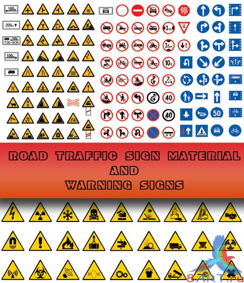 Road traffic sign material and Warning signs  �������� ����� ����������������� �����