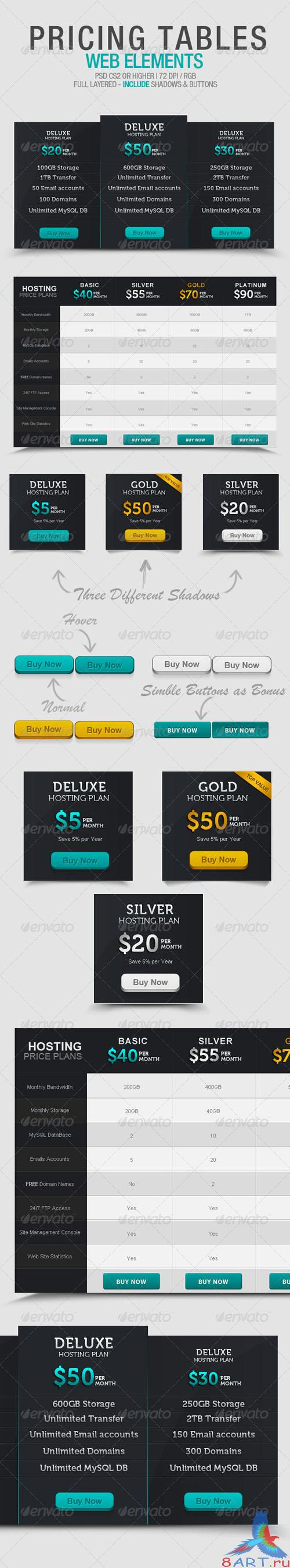 GraphicRiver - Pricing Tables 2697336