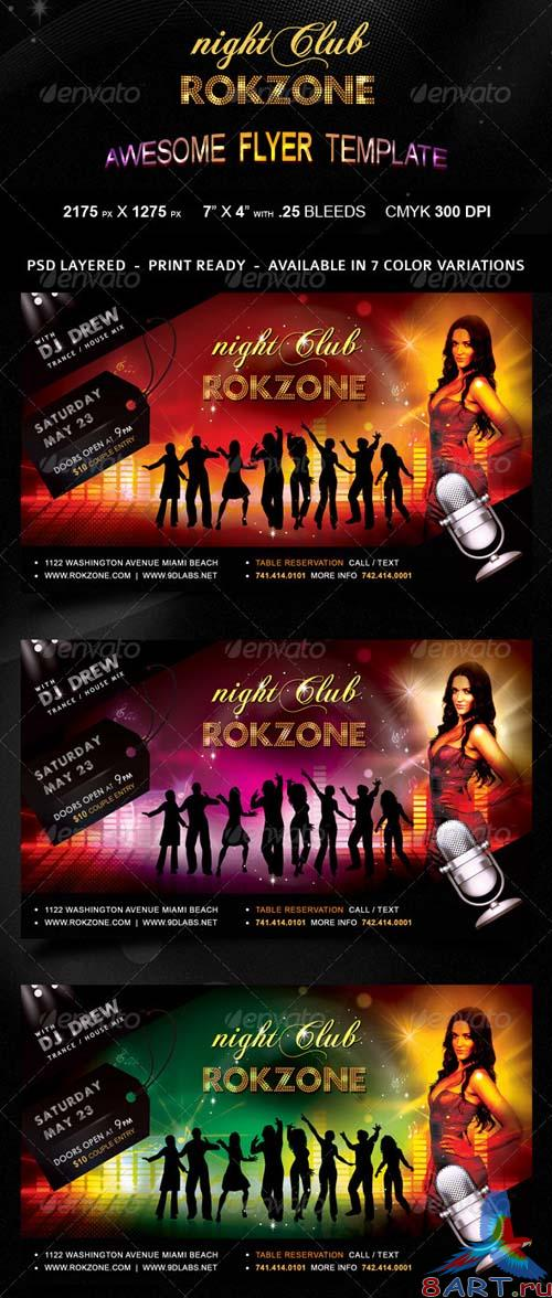 GraphicRiver Roczone Flyer - 7 Color Variations - Print Ready