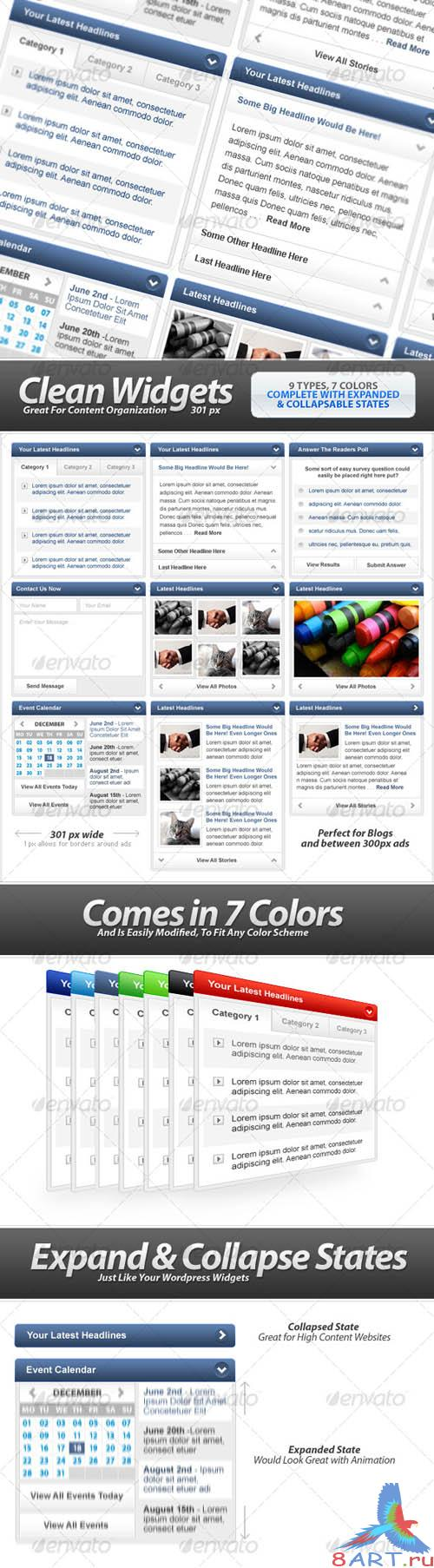 Clean Widgets Designs.For High-Content Sites [GraphicRiver]