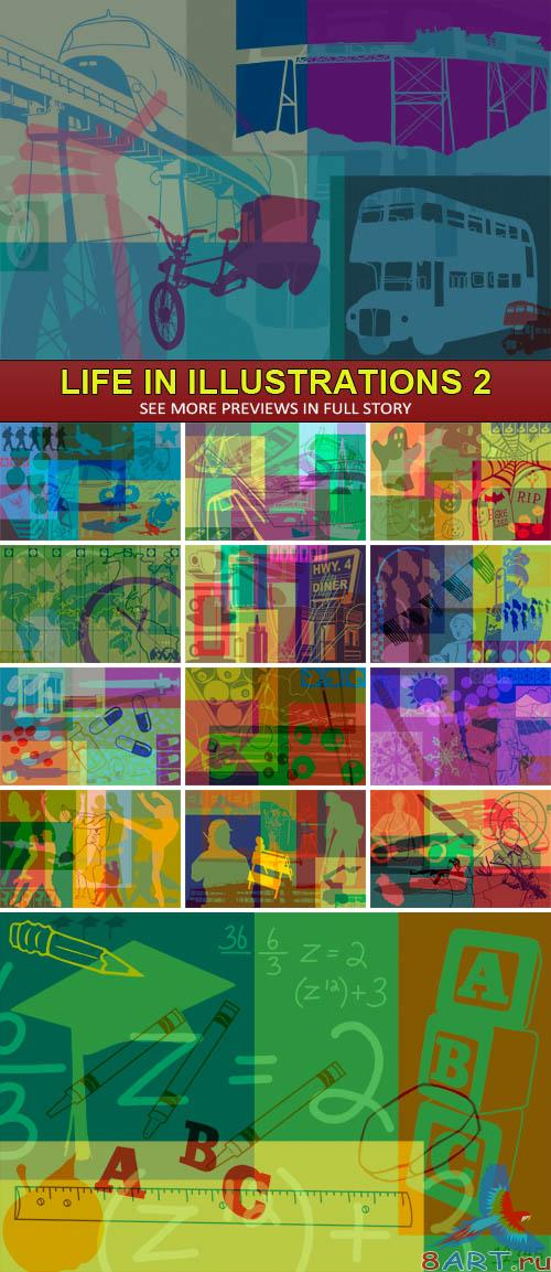 PSD Sources - Life in illustrations 2