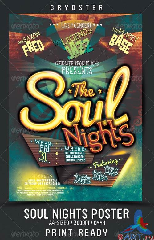 GraphicRiver Soul Nights Flyer - Poster