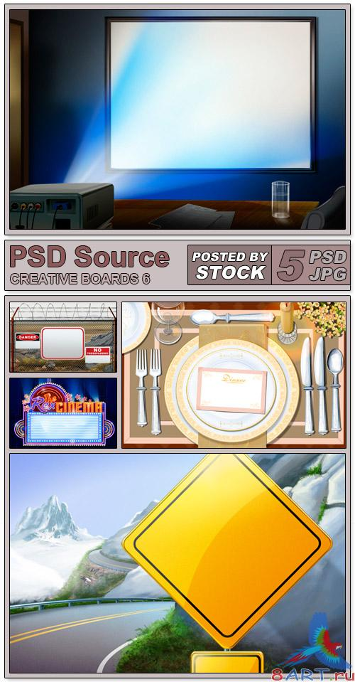PSD Source - Creative boards 6