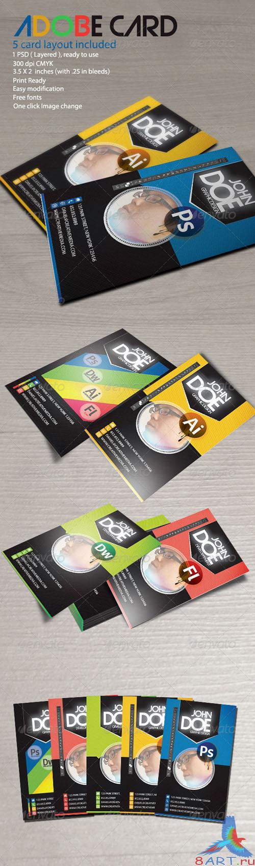 GraphicRiver - Adobe Card 2558743