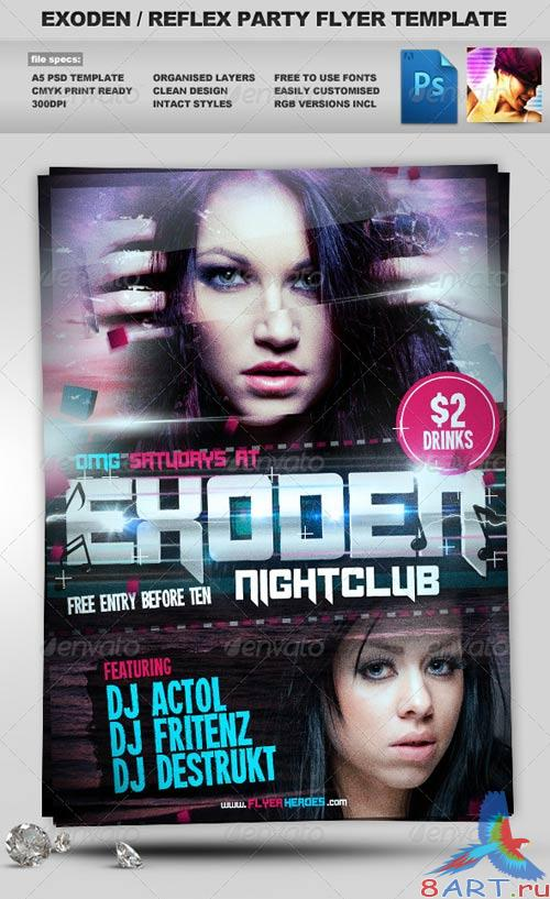 GraphicRiver Exoden Nightclub Party Flyer Template