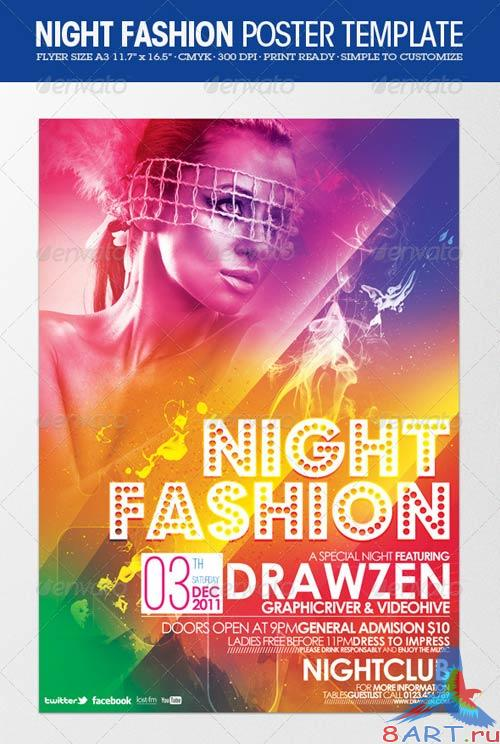 GraphicRiver Night Fashion Party Flyer/Poster