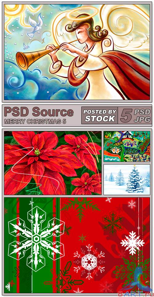 PSD Source - Merry Christmas 5