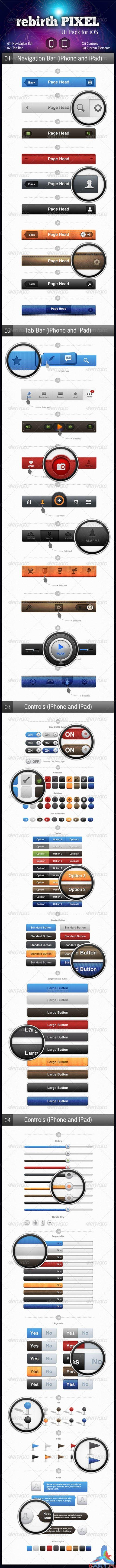 GraphicRiver - UI Pack for iOS by rebirthPIXEL 2577167