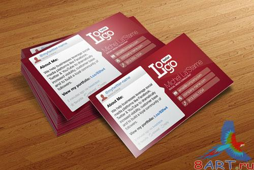 PSD Template - Social Media Business Card