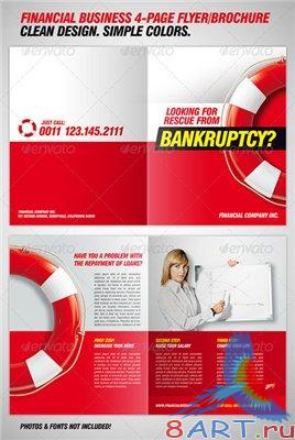 GraphicRiver Bankruptcy Flyer Financial Brochure Template