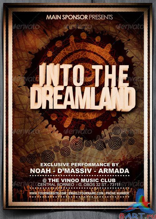 GraphicRiver Into The Dreamland Music Flyer