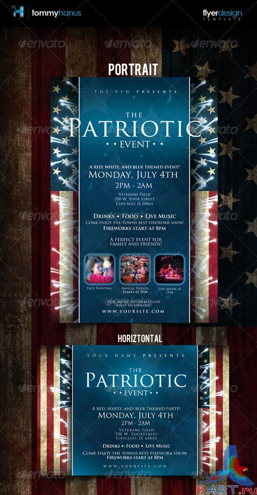 GraphicRiver Patriotic 4th Of July Flyer Template
