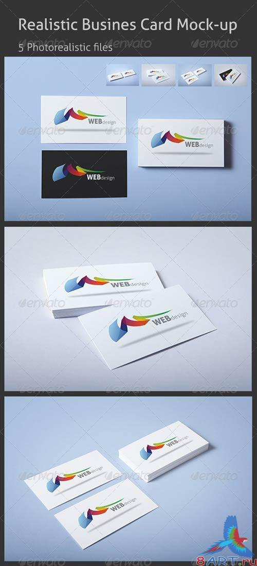 GraphicRiver Realistic Business Card Mock-up