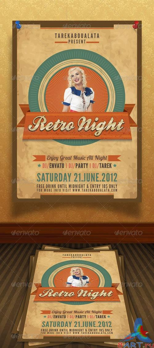 GraphicRiver Retro Night flyer