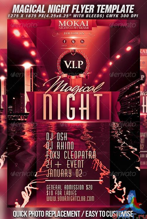 GraphicRiver Magical Night Flyer Template