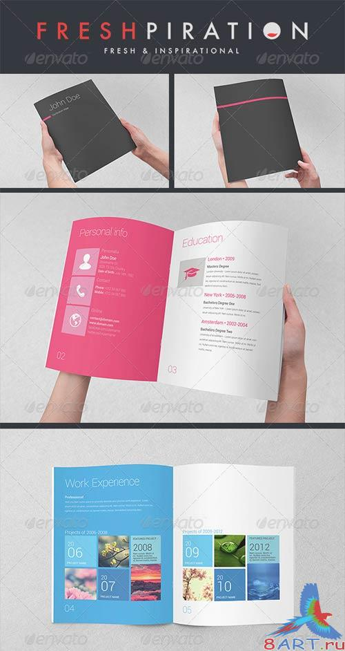 GraphicRiver Metro Inspired Clean Resume Booklet (8 Pages)
