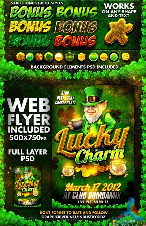 GraphicRiver St Patricks Day Photoshop Styles and Web Flyer