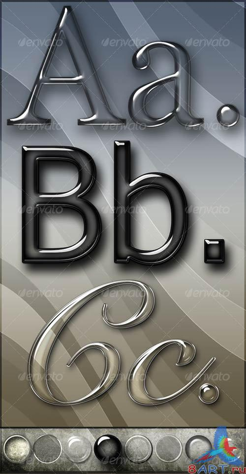 GraphicRiver Elegant Glass Text Effects & Styles