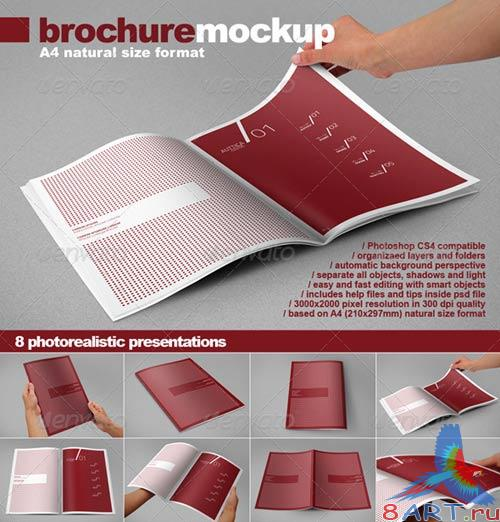 GraphicRiver Photorealistic A4 Brochure Mock-up