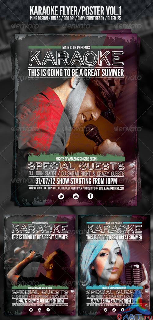 GraphicRiver Karaoke Club Flyer Vol.1