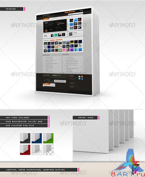GraphicRiver 3D Webpage Display (Vertical)