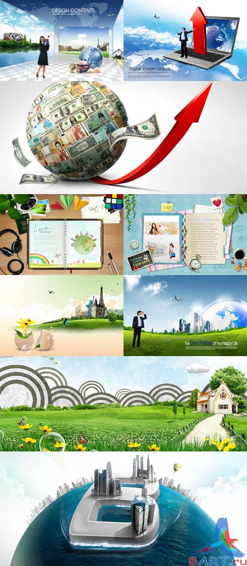 PSD source collection 2011 pack # 20