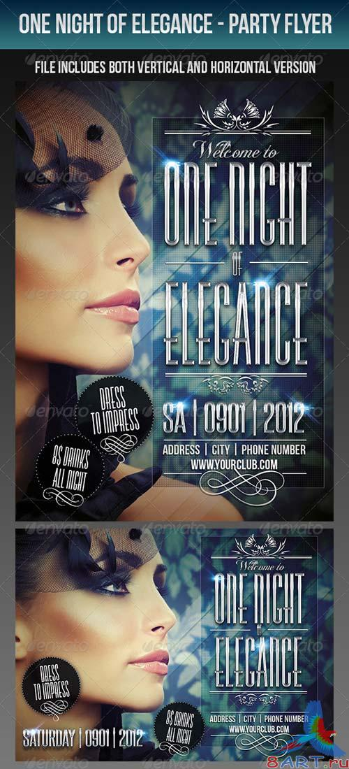 GraphicRiver One Night Of Elegance Party Flyer