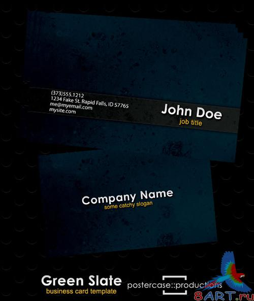Green Slate Business Card (PSD)