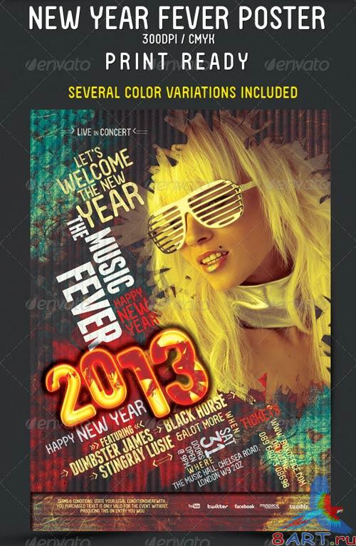 GraphicRiver New Year Fever Flyer - Poster