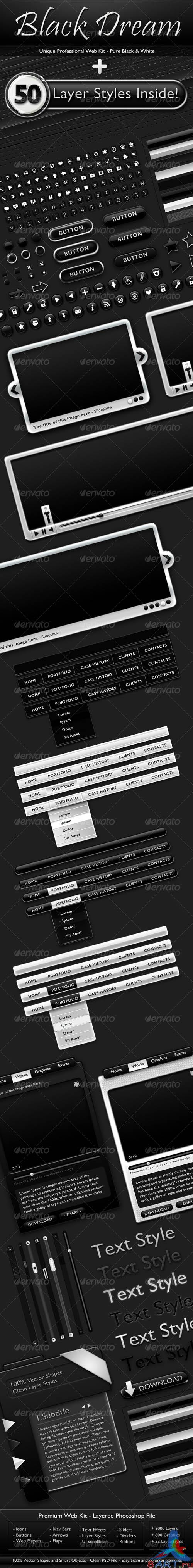Black Dream - Professional Web Kit [GraphicRiver]