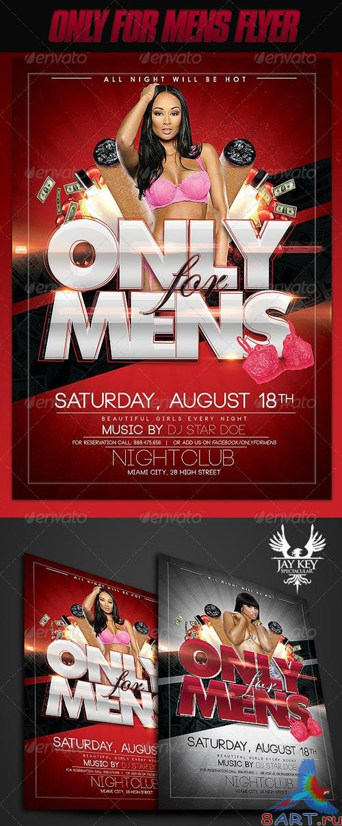 GraphicRiver Only for Mens Flyer