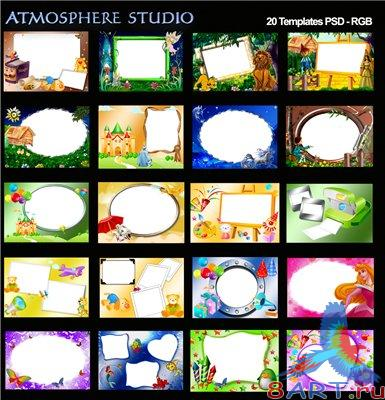 Atmosphere Studio Album Templates - Children vo.l 4