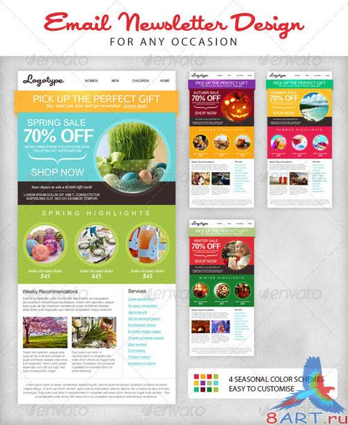GraphicRiver - Seasonal Email Newsletter Template 2508648