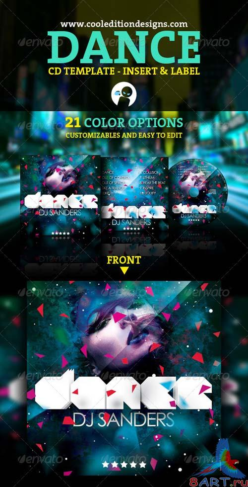 GraphicRiver Dance CD Insert and CD Label